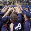 Edmond North Huskie players hoist the trophy after defeating the Broken Arrow Tigers in the 6A State Baseball Championship at Oral Roberts University in Tulsa, OK, May 12, 2012. MICHAEL WYKE/Tulsa World