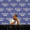 Oklahoma City\'s Kevin Durant talks to the media during the NBA Finals practice day at the Chesapeake Energy Arena on Monday, June 11, 2012, in Oklahoma City, Okla. Photo by Chris Landsberger, The Oklahoman