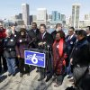 Photo -   Maryland Gov. Martin O'Malley, center, speaks at a news conference in Baltimore, Monday, Nov. 5, 2012, in front of supporters of a ballot question that, if passed, would allow same-sex marriage in the state. (AP Photo/Patrick Semansky)