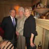 Dr. Ron White greets guests Phyllis Stough and Ellie Roberts at a party in his honor. Ann Alspaugh and Jim Vallion honored him at a cocktail party in the Alspaugh home. People at the party congratulated the well-deserving honoree for his upcoming induction in The Oklahoma Hall of Fame. He is one of several to be honored in Tulsa last week. For decorations, Halloween pumpkins were in place, along with colorful Halloween characters. (Photo by Helen Ford Wallace).