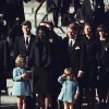 FILE - This Nov. 25, 1963 file photo shows three-year-old John F. Kennedy Jr. saluting his father\'s casket in Washington on Nov. 25, 1963, three days after the president was assassinated in Dallas. Widow Jacqueline Kennedy, center, and daughter Caroline Kennedy are accompanied by the late president\'s brothers Sen. Edward Kennedy, left, and Attorney General Robert Kennedy. Sony Electronics and the Nielsen television research company collaborated on a survey ranking TV\'s most memorable moments. Other TV events include, the Sept. 11 attacks in 2001, Hurricane Katrina in 2005, the O.J. Simpson murder trial verdict in 1995 and the death of Osama bin Laden in 2011. (AP Photo, file) ORG XMIT: NYET132