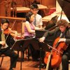 Photo - Brightmusic Chamber Ensemble musicians, from left, Gregory Lee (violin), Amy I-Lin Cheng (piano) and Jonathan Ruck (cello).   Photo provided  Photo provided