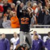 Oklahoma State\'s James Thomas (22) tips a pass from Kansas State\'s Collin Klein (7) during a college football game between the Oklahoma State University Cowboys (OSU) and the Kansas State University Wildcats (KSU) at Boone Pickens Stadium in Stillwater, Okla., Saturday, Nov. 5, 2011. Photo by Sarah Phipps, The Oklahoman