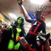 Photo - Cosplayers portray Gamora, Groot and Rocket Raccoon at a previous New World Comics event.  Photo provided