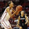 Oklahoma\'s Nicole Griffin (4) shoots in the first half during a women\'s college basketball game between the University of Oklahoma (OU) and Cal State Northridge at the Lloyd Noble Center in Norman, Okla., Saturday, Dec. 29, 2012. Photo by Nate Billings, The Oklahoman