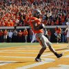 OSU\'s Joseph Randle (1) reacts after scoring a touchdown in the second quarter during a college football game between the Oklahoma State University Cowboys (OSU) and the Baylor University Bears (BU) at Boone Pickens Stadium in Stillwater, Okla., Saturday, Oct. 29, 2011. Photo by Nate Billings, The Oklahoman