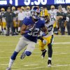 New York Giants wide receiver Rueben Randle, left, breaks away from Green Bay Packers cornerback Micah Hyde (33) for a touchdown during the first half of an NFL football game Sunday, Nov. 17, 2013, in East Rutherford, N.J. (AP Photo/Bill Kostroun)