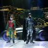 Batman and Robin pose in front of the Batmobile on the set of Batman Live at the Chesapeake Energy Arena Wednesday, October 10. 2012. Photo by Kyle Roberts, The Oklahoman