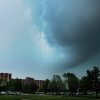 Possible tornado goes over the campus of the University of Oklahoma as the Norman sirens were going off Friday, April 13, 2012. Photo by Hugh Scott, The University of Oklahoma.