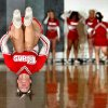 Carl Albert freshman cheerleader Natalie Dommert does a tumbling run during the Titan\'s game with Tulsa East Central in Class 5A boys state tournament basketball at Norman North High School on Thursday, March 6, 2008 in Norman, Oklahoma. BY STEVE SISNEY, THE OKLAHOMAN