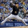 Photo -   Pittsburgh Pirates relief pitcher Hisanori Takahashi throws during the eighth inning of a baseball game against the Milwaukee Brewers Friday, Aug. 31, 2012, in Milwaukee. (AP Photo/Morry Gash)