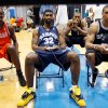 Photo - NBA BASKETBALL: Memphis Grizzlies O.J. Mayo, center, and San Antonio Spurs' George Hill, right, play a basketball video game while Charlotte Bobcats' Kyle Weaver, left, looks on during the NBA Rookie Photo Shoot in Tarrytown, N.Y., Tuesday July 29, 2008. More than thirty of the NBA's newest players had their photos taken for playing cards during the event. (AP Photo/Seth Wenig) ORG XMIT: NYSW113