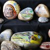 """These painted river rocks from """"DBC Things"""", were on display at the Made in Oklahoma Festival at the Reed Conference Center in Midwest City, OK, Saturday, May 31, 2014, Photo by Paul Hellstern, The Oklahoman"""