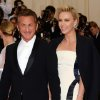 """Sean Penn, left, and Charlize Theron attend The Metropolitan Museum of Art\'s Costume Institute benefit gala celebrating """"Charles James: Beyond Fashion"""" on Monday, May 5, 2014, in New York. (Photo by Evan Agostini/Invision/AP)"""