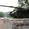 In this Thursday, June 27, photo, an old Army tank now stands as a monument near the entrance to Fort Knox, Ky. The Pentagon recently announced that the historic Army post would lose its only combat brigade, just a few years after the post\'s Armor school was transferred to Fort Benning, Ga. (AP Photo/Dylan Lovan)