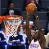 Oklahoma City\'s Jeff Green goes in for the dunk during the Thunder - Mavericks game Monday, December 27, 2010 at the Oklahoma City Arena. Photo by Hugh Scott, The Oklahoman