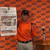 Photo - OSU / OKLAHOMA STATE UNIVERSITY / COLLEGE FOOTBALL / RANT: YouTube video screen shot of head coach Mike Gundy ranting about Oklahoman column by Jenni Carlson