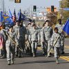 Air Force members march in the Veterans Day parade on SE 15th St. in Midwest City, OK, Monday, November 11, 2013, Photo by Paul Hellstern, The Oklahoman