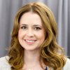 """In this April 24, 2012 photo, actress Jenna Fischer poses for a portrait in New York. In her latest project, a romantic comedy called """"The Giant Mechanical Man,"""" Fischer\'s character Janice is a down on her luck, single woman who can\'t seem to get her life together. She ends up falling for a street performer played by Chris Messina. (AP Photo/Charles Sykes)"""