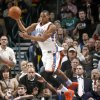 Oklahoma City\'s Russell Westbrook passes the ball during the NBA basketball game between the Oklahoma City Thunder and the Dallas Mavericks at the Ford Center in Oklahoma City on Wednesday, December 16, 2009. Photo by Bryan Terry, The Oklahoman ORG XMIT: KOD