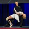 Photo - In this photo provided by TED 2014 Conference, dancer Adrianne Haslet-Davis, front, performs on stage with dancer Christian Lightner at the 2014 TED Conference, Wednesday, March 19, 2014, in Vancouver, British Columbia. Haslet-Davis took to the stage to perform for the first time since losing part of her left leg in the 2013 Boston Marathon bombing. (AP Photo/TED 2014 Conference, James Duncan Davidson)