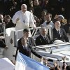 Pope Francis waves upon his arrival in St. Peter\'s Square for his inaugural Mass, at the Vatican, Tuesday, March 19, 2013. (AP Photo/Andrew Medichini)