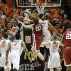 Oklahoma State\'s Markel Brown (22) defends against Oklahoma\'s Ryan Spangler (00) during the men\'s Bedlam college game between Oklahoma and Oklahoma State at Gallagher-Iba Arena in Stillwater, Okla., Saturday, Feb. 15, 2014. Photo by Sarah Phipps, The Oklahoman