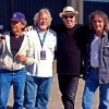 Neil Young and Crazy Horse are, from left, Ralph Molina (drums) , Poncho Sampedro (guitars), Young, and Billy Talbot (bass). PHOTO BY JULIE GARDNER