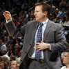 Oklahoma City head coach Scott Brooks gives instructions to his team in the first half during the NBA basketball game between the Dallas Mavericks and the Oklahoma City Thunder at the Ford Center in Oklahoma City, March 2, 2009. BY NATE BILLINGS, THE OKLAHOMAN