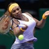 Photo - Serena Williams of the US returns a shot to Angelique Kerber of Germany during their tennis match at the WTA championship in Istanbul, Turkey, Tuesday, Oct. 22, 2013. The world's top female tennis players compete in the championships which runs from Oct. 22 until Oct. 27. (AP Photo)