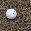 Photo - Ernie Els, of South Africa, ball rests in pine needles on the third hole during a practice round for the U.S. Open golf tournament in Pinehurst, N.C., Wednesday, June 11, 2014. The tournament starts Thursday. (AP Photo/Eric Gay)
