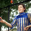 Photo - Ryan Garcia juggles at the medieval fair.