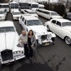 In this Tuesday, Jan. 15, 2013, photo, Joe Brasco and his wife Ann Marie Brasco, of New Jersey Limo Bus & Limousine, pose for a portrait in Fairfield, N.J. The flu season has created a scramble for New Jersey Limo Bus & Limousine as two of the company\'s seven full-time employees called in sick at the same time, but the Brascos have managed to find substitutes when workers have called in sick. (AP Photo/Mel Evans)