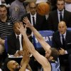 Oklahoma City\'s Derek Fisher (6) shoots over Memphis\' Kosta Koufos (41) during Game 5 in the first round of the NBA playoffs between the Oklahoma City Thunder and the Memphis Grizzlies at Chesapeake Energy Arena in Oklahoma City, Tuesday, April 29, 2014. Photo by Nate Billings, The Oklahoman