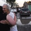 Ida Clark, 85 of Carney, hugs her friend Lesa Bane after a tornado went through Carney, Okla. on May 19, 2013. Clark\'s home of 50 years was destroyed by the tornado with Clark and her son inside the house. KT King/For the Oklahoman