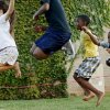 CHILD / CHILDREN / KIDS: Autumn Squire, 11, at left, jumps rope with brothers Donta Jones, 7, and Sonoa Jones, 5, at right, during Jazz on the Lawn at the Ralph Ellison Library on Tuesday, September 4, 2012. Photo by Bryan Terry, The Oklahoman
