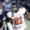 Norman\'s Imond Robinson breaks loose on a long run against Southmoore during the first half in Moore, Friday October 12, 2012. Photo By Steve Gooch, The Oklahoman