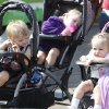 Two year old Tristain Reynolds, left, Andromeda Reynolds, 3, and Trintea Willett already look tired during the Oklahoma State Fair at State Fair Park in Oklahoma City, OK, Thursday, September 20, 2012, By Paul Hellstern, The Oklahoman