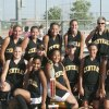 Attached are two pictures of the team after winning the Metro Conference Tournament. Lenlie Foster sent me the pictures. You can pick out the best picture. Central defeated Hefner 7-1, Yukon Lakeview 4-0, Cheyenne 6-5, Cimarron 4-1, and Mustang South 8-5. Row 1: Savana Blake, Jasmine Jackson, Shannon Taylor, Jasmine Jacky, Kayley Humann, Kobi Snow, and Abby Taliaferro. Row 2: Coach Mark Kirk, Kasi Dodson, Nikki Rodarm, Lindsay Littles, Caitlyn Albro, Shelbie Smith, and Head Coach Mitch Parker.