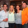 Dave Lopez, Stacy Fagan, Dena and Shayne Vigil celebrate at Ross Cash\'s birthday party. (Photo by David Faytinger).