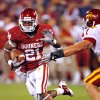 Brennan Clay (21) carries during the second half of the college football game between the University of Oklahoma Sooners (OU) and the Iowa State Cyclones (ISU) at the Gaylord Family-Oklahoma Memorial Stadium on Saturday, Oct. 16, 2010, in Norman, Okla. Photo by Steve Sisney, The Oklahoman
