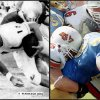 Photo -  Left:  OU QB Bob Warmack vs. Notre Dame, 1968;  Right:  OSU vs. UCLA, 2004 (Oklahoman archive photos)