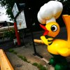 ROUTE 66: A Ku-Ku bird sits next to the drive-thru at Waylin\'s the Ku-Ku in Miami, Okla., on Monday, June 18, 2007. By James Plumlee, The Oklahoman.