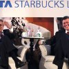 Photo -   FILE - In this Jan. 30, 2012 file photo, R.K. Krishankumar, vice chairman of Tata Global Beverages, left, along with John Culver, president of Starbuck China and Asia Pacific, meet the media in Mumbai, India. Starbucks will open its first outlet in India by the end of October in an upscale neighborhood of Mumbai and has appointed a chief executive to head its India joint venture, the company said Friday, Sept. 28, 2012. (AP Photo/Rafiq Maqbool, File)