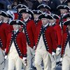 The Army\'s Old Guard Fife and Drum Corps march in President Barack Obama\'s inaugural parade in Washington, Monday,Jan. 21, 2013, following the president\'s ceremonial swearing-in ceremony during the 57th Presidential Inauguration. ( AP Photo/Jose Luis Magana) ORG XMIT: DCJL124