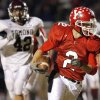 Yukon\'s Joey Davidson (2) leaves behind Edmond Memorial\'s Logan Thomas (42) on his way to a touchdown in the first half during the high school football game between Edmond Memorial and Yukon in Yukon, Okla.,, Friday, Nov. 2, 2007. By Nate Billings, The Oklahoman