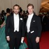 """Tom Ford, left, and Benedict Cumberbatch attend The Metropolitan Museum of Art\'s Costume Institute benefit gala celebrating """"Charles James: Beyond Fashion"""" on Monday, May 5, 2014, in New York. (Photo by Evan Agostini/Invision/AP)"""