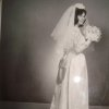 Carol Ann Enlow-Cullum was a busy bride during the summer leading to her Aug. 30, 1963, wedding. Enlow-Cullum worked to create her and her bridesmaid\'s gowns. It came from a desire for her dress to be sleek and stylish while still traditional, said Renee Cullum, Carol\'s daughter. Her pillbox like veil was finished with help from her father. Photo provided by Renee Cullum.
