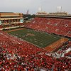 A record crowd of 59,061 attends a college football game between the Oklahoma State University Cowboys (OSU) and the Lamar University Cardinals at Boone Pickens Stadium in Stillwater, Okla., Saturday, Sept. 14, 2013. Photo by Nate Billings, The Oklahoman