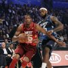 Eastern Conference\'s LeBron James (6), of the Miami Heat, pressures Western Conference\'s Kevin Durant (35), of the Oklahoma City Thunder, during the NBA All-Star basketball game, Sunday, Feb. 26, 2012, in Orlando, Fla. (AP Photo/Chris O\'Meara)